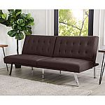 Kenzie Leather Foldable Futon Sofa Bed (Assorted Colors) $199