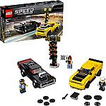 LEGO Speed Champions 2018 Dodge Challenger SRT Demon and 1970 Dodge Charger R/T 75893 Building Kit (478 Piece) $24