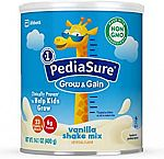 3-Pack of 14.1-oz PediaSure Grow & Gain Non-GMO Vanilla Shake Mix Powder, Nutrition Shake for Kids $30 or Less