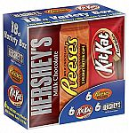18-Count Hershey Candy Bar Assorted Variety Box $6.99