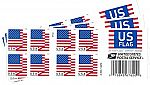 USPS US Flag 2018 Forever Stamps Sale: 40 Stamps $16.97, 60 Stamps $25.50, 100 Stamps $42.50