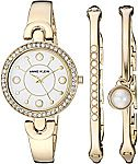 Anne Klein Women's AK/3288GBST Watch and Bangle Set $50 (Org $150)