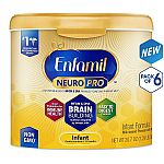 6-Pack of 20.7oz Enfamil NeuroPro Infant Formula Powder $95.09