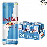 24-Pack of 8.4-Oz Red Bull Sugar Free Energy Drink $24.31