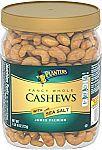 1.63 lb Planters Fancy Whole Cashews With Sea Salt $10