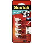 4-Count (1 Pack) Scotch Super Glue Liquid $2.44