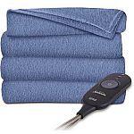 "Sunbeam 60""x50"" Electric Heated Microplush Throw Blanket $16.99"