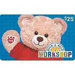$50 Build-A-Bear Workshop Gift Card $37.50, $100 GC $75