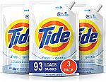 3-Pack of 48oz Tide Smart Pouch HE Liquid Laundry Detergent $14.48