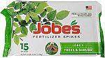 15-count Jobe's 01660 1610 0 Tree Fertilizer Spikes 16-4-4 $5 (Org $18)