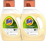 2-count Tide Purclean 50-oz. Laundry Detergents $13