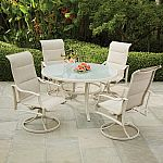Up to 30% Off Select Patio Furniture: Hampton Bay Statesville Shell 5-Piece Dining Set $499 & More