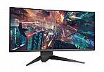 """34"""" Alienware AW3418DW 3440x1440 120Hz G-Sync Curved IPS LED Monitor + $75 Dell eGift Card for $800"""