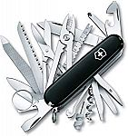 Victorinox Swiss Army SwissChamp 53503 Pocket Knife (Black) $40.75