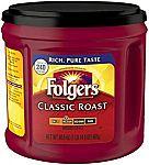 30.5 oz Folgers Classic Roast Ground Coffee, Medium Roast $6
