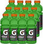 12Pk Gatorade Fierce Green Apple 20 Ounce Bottles $6.37 and more