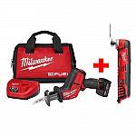Milwaukee M12 FUEL 12-V Li-Ion Brushless Cordless HACKZALL Reciprocating Saw Kit $179