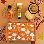 The Body Shop Satsuma Beauty Bag $7.35, The Body Shop House of Vanilla Marshmallow Delights Gift Set $5 and more