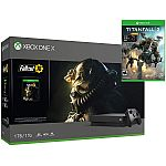 Microsoft Xbox One X 1TB Console w/ Fallout 76 & Titanfall 2 + Nitro Scorch DLC $339