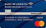 Bank of America® Business Advantage Travel Rewards World Mastercard® credit card - Earn 25,000 bonus points with $1,000 spent