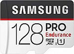 Samsung PRO Endurance 128GB Micro SDXC Card $20 and more