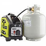 RYOBI 900 Starting Watt Propane Powered Inverter Generator $249