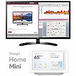 "LG 32"" Full HD IPS LED Monitor 1920x1080 16:9 with Google Home Hub $249"