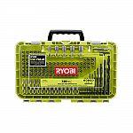 Ryobi black oxide drill and drive kit (120 piece) $7