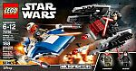 LEGO Star Wars A-Wing vs. TIE Silencer Microfighters $12 (org $20)