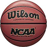 "Wilson NCAA Replica Game Basketball (Official - 29.5"") $14, Spalding Zi/O Excel Tournament Basketball Official Size 7 $20 & More"