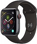 Apple Watch Series 4 (GPS + Cellular, 44mm) - Space Gray Aluminium Case with Black Sport Band $480