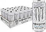 24-Pack Monster Energy Zero Ultra, Sugar Free Energy Drink, 16oz $25