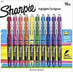 Sharpie Liquid Highlighters, Chisel Tip, Assorted Colors, 10 Count $6.50