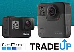 GoPro Hero 7 Black $299, GoPro Fusion 360 $399 (after trade-in any camera)