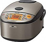 Zojirushi NP-HCC10XH Induction Heating Rice Cooker $220