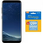 Walmart Family Mobile Samsung Galaxy S8 Prepaid Phone + 30-Day $29.88 Plan (Unlimited Talk, Text & Data w/ 3GB LTE) $266 & More