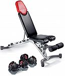 Bowflex SelectTech 552 Adjustable Dumbbells (Pair) + 5.1 Adjustable Weight Bench $299