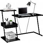 Tribeca Black Glass Desk $30 (org $150)