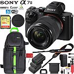 Sony a7 II Mirrorless Camera w/ 28-70mm Lens + Vanguard VEO 2 204AB Tripod + 64 GB Memory $998, Sony a7S II Full-frame Mirrorless Interchangeable Lens Camera Bundle $1998 & More
