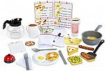 Melissa & Doug Star Diner Restaurant Play Set (Toy Diner Set, 41 Pieces) $17