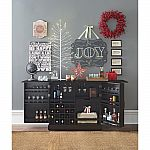 Home Decorators Collection Jamison Black Bar with Expandable Storage $299.50 (50% Off)