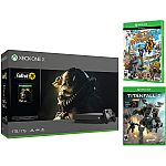 1TB Xbox One X 4K Gaming Console Fallout 76, Sunset Overdrive, Titanfall 2 with Nitro DLC Bundle $337