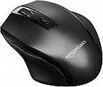 AmazonBasics Ergonomic Wireless Mouse w/ Adjustable DPI $5