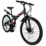 "Xspec 26"" 21 Speed Folding Bicycle $177"