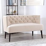 Andrea Tufted Velvet Settee (Assorted Colors) by Abbyson Living $149.88