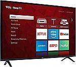 TCL 49S325 49 Inch 1080p Smart Roku LED TV (2019) $200