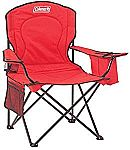 Coleman Portable Camping Quad Chair with 4-Can Cooler $19.99