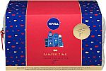NIVEA Pamper Time Gift Set - 5 Piece Luxury Collection of Moisturizing Products and Travel Bag Included $14.39