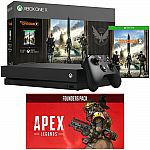 1TB Xbox One X Console Bundle w/ The Division 2 + Apex Legends Founders Pack $359