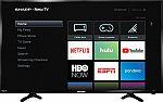 "Sharp - 40"" Class - LED - 1080p - Smart - HDTV Roku TV $149.99"